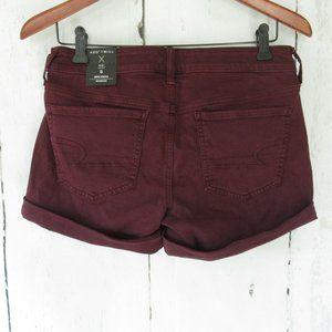 American Eagle Midi Shorts Purple Twill Denim Jean